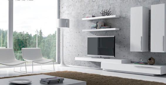 Meuble TV avec étagères murales Ginza Meubles Lehue Angers 49