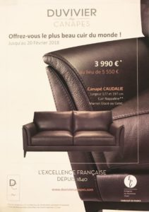 PROMOTION CANAPE DUVIVIER ANGERS